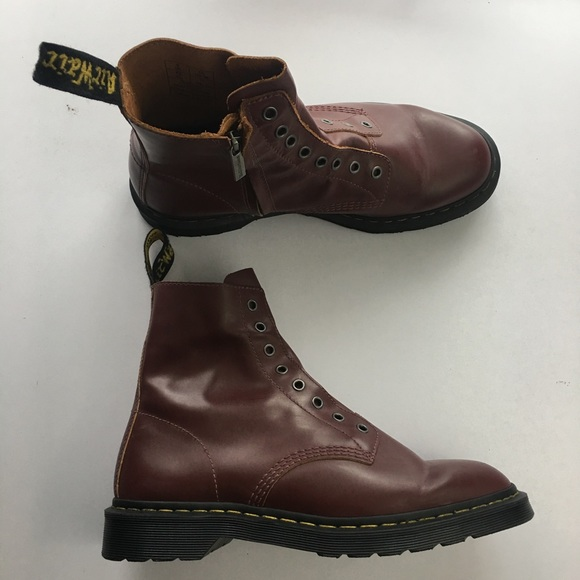 superior quality buy cheap popular brand Dr. Martens 1460 LL Leather Laceless Red Vintage NWT
